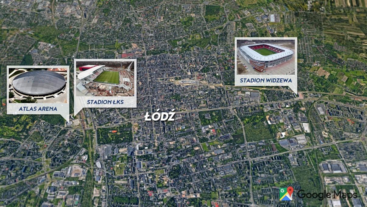 Stadiony w Łodzi
