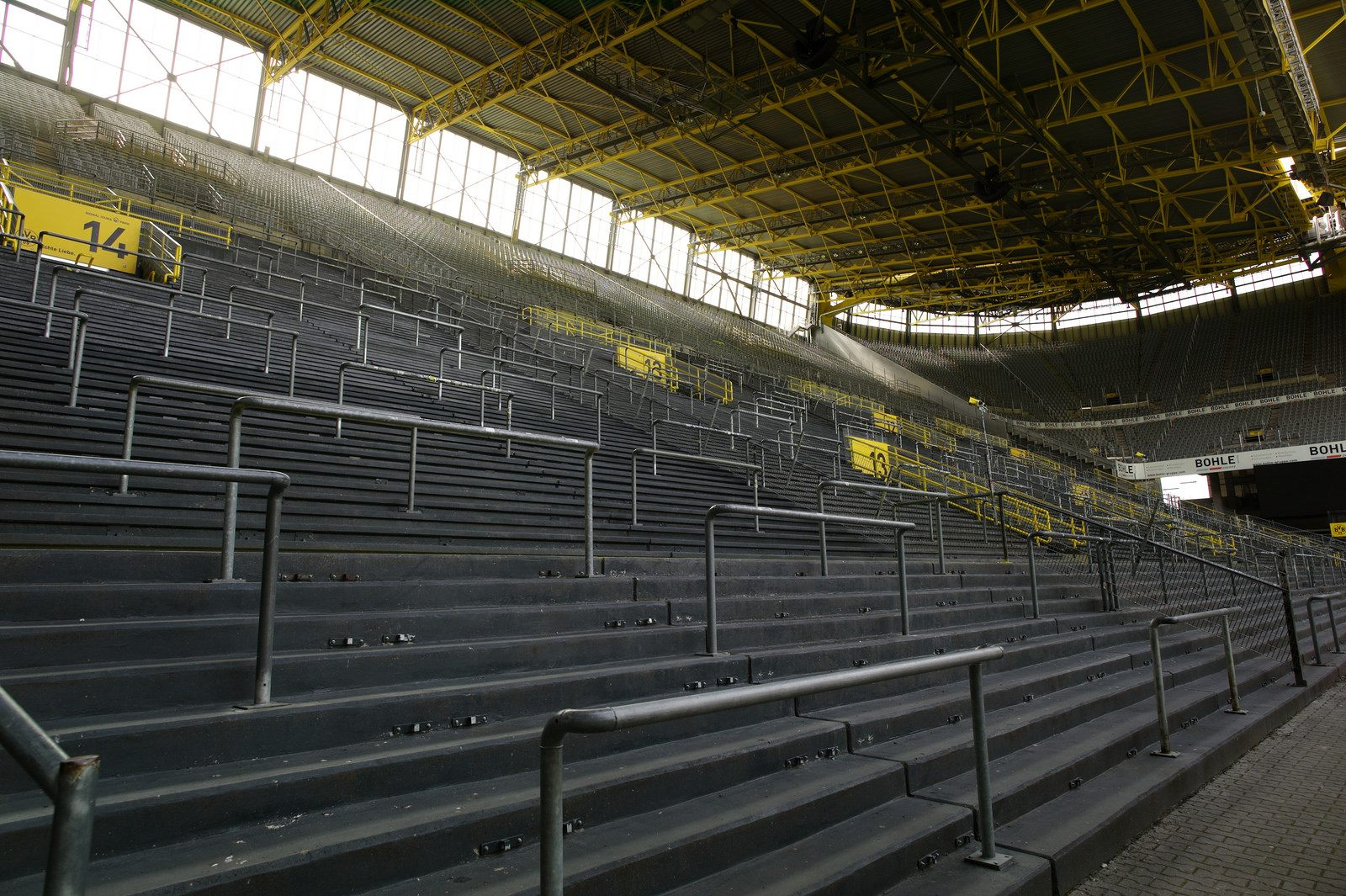 Bundesliga - empty stands at Westfalenstadion
