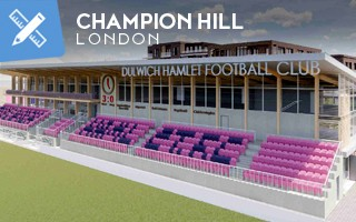 New design: The new Champion Hill in London