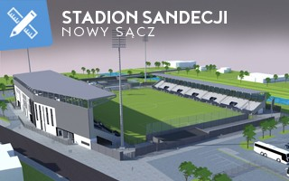 New design: Sandecja stadium getting more tangible
