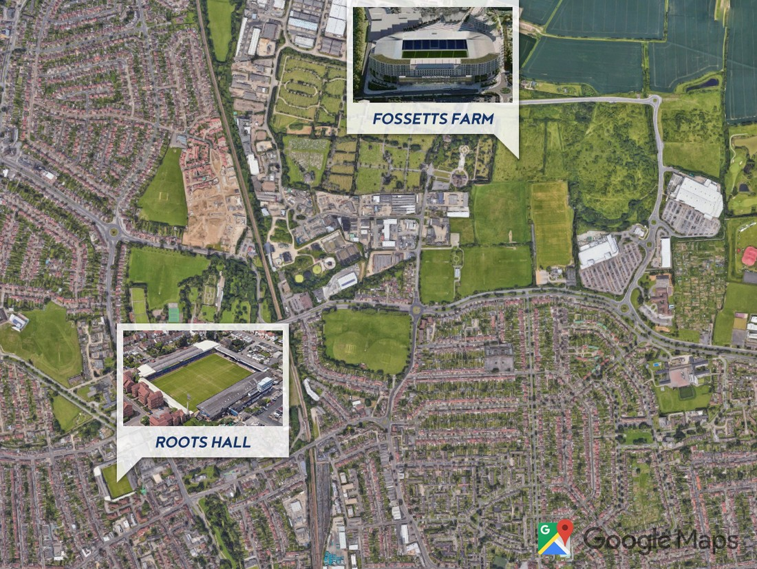 Southend United stadium - Roots Hall & Fossetts Farm