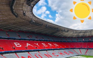 Nothing but sunshine for these German football stadiums