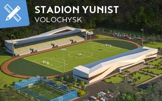 New design: In Volochysk, just outside Premier Liha