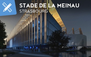 New design: Stade de la Meinau covered with airplane fuselages