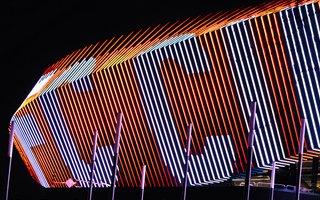 USA: West End Stadium facade lights up