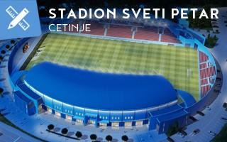 New design: Modern stadium in former capital of Montenegro