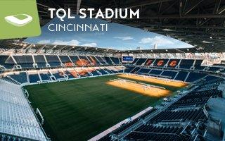 New stadium: FC Cincinnati's illuminated home