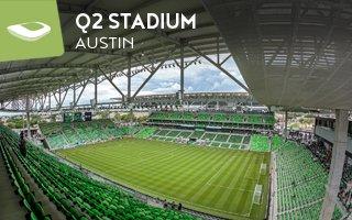 New stadium: Shadowy cowboy hat in Texas