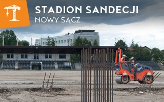 New construction: Sandecja's stadium growing, though not as planned