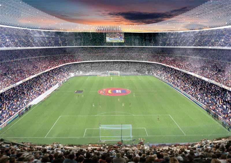 700.004 # 5606 Stadionpostkarte Barcelona Camp Nou Cod.