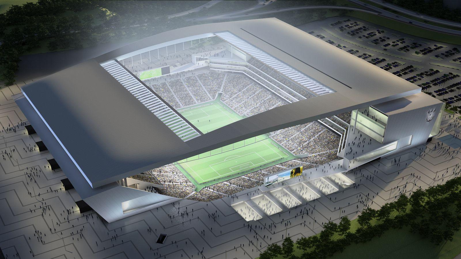 Design arena corinthians for Estadio arena