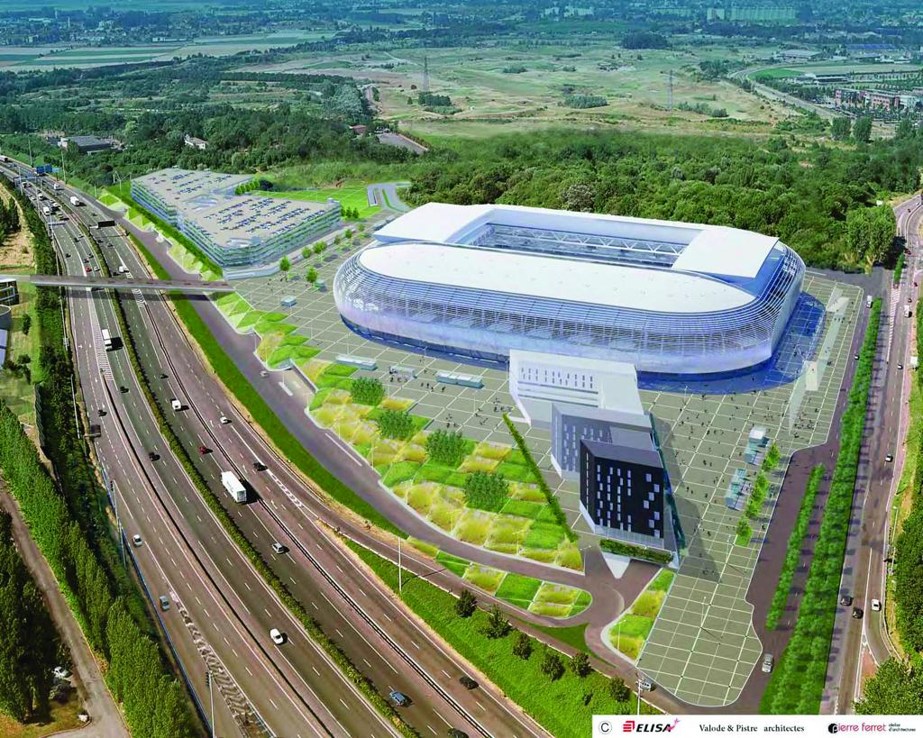 Design grand stade lille for Stand lille