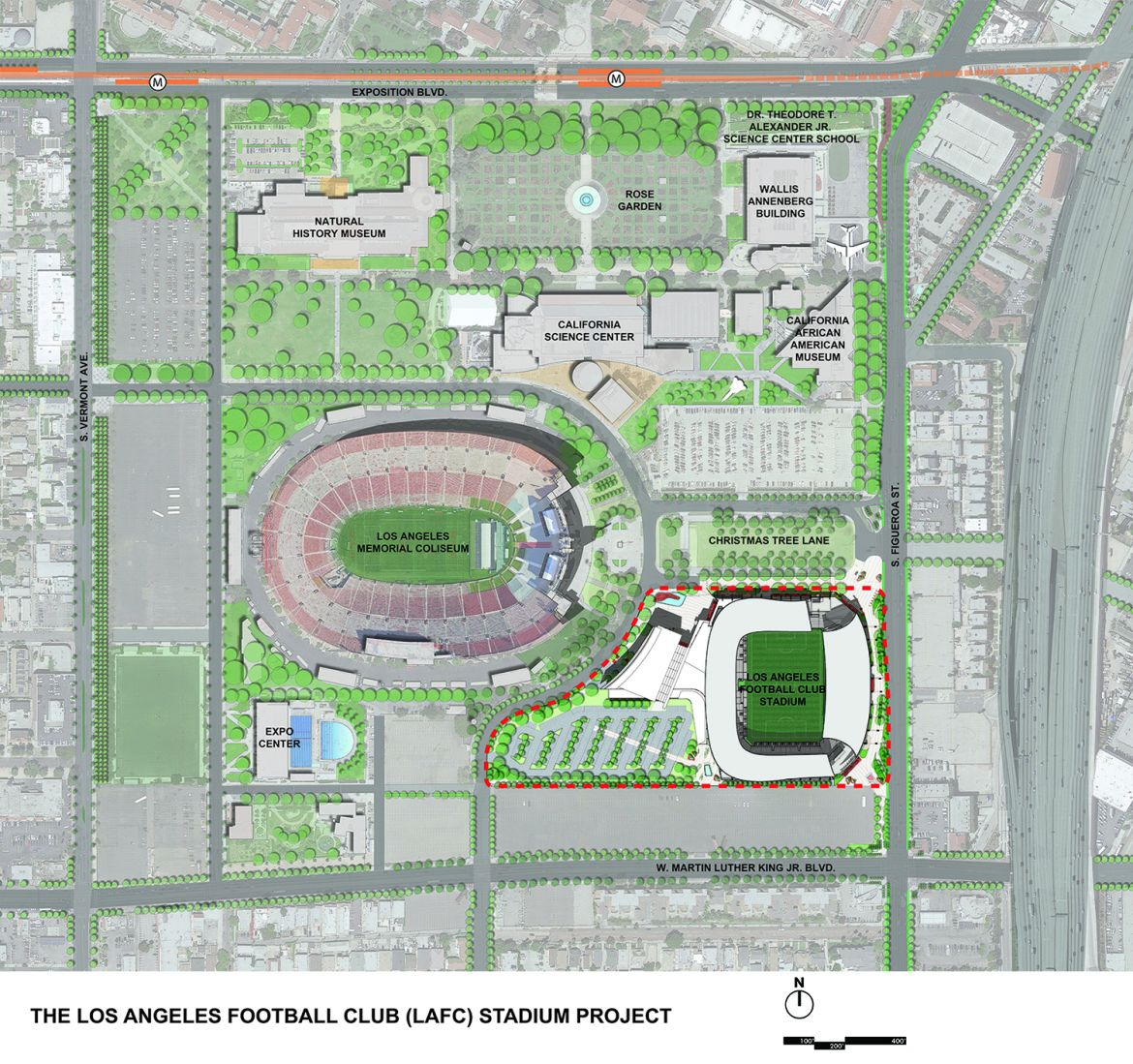 Design banc of california stadium for Location parking
