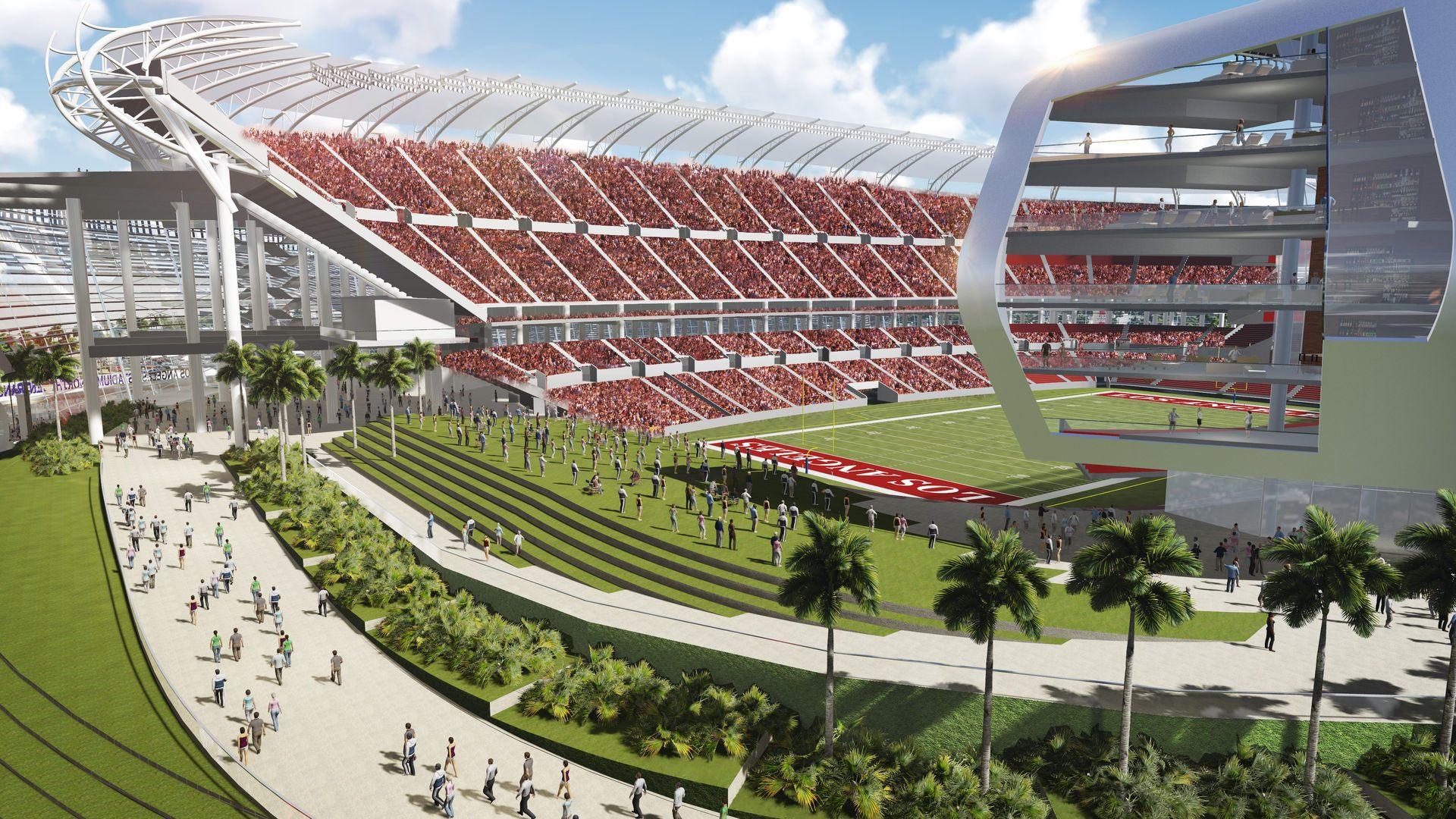 Design Los Angeles Stadium Stadiumdb Com