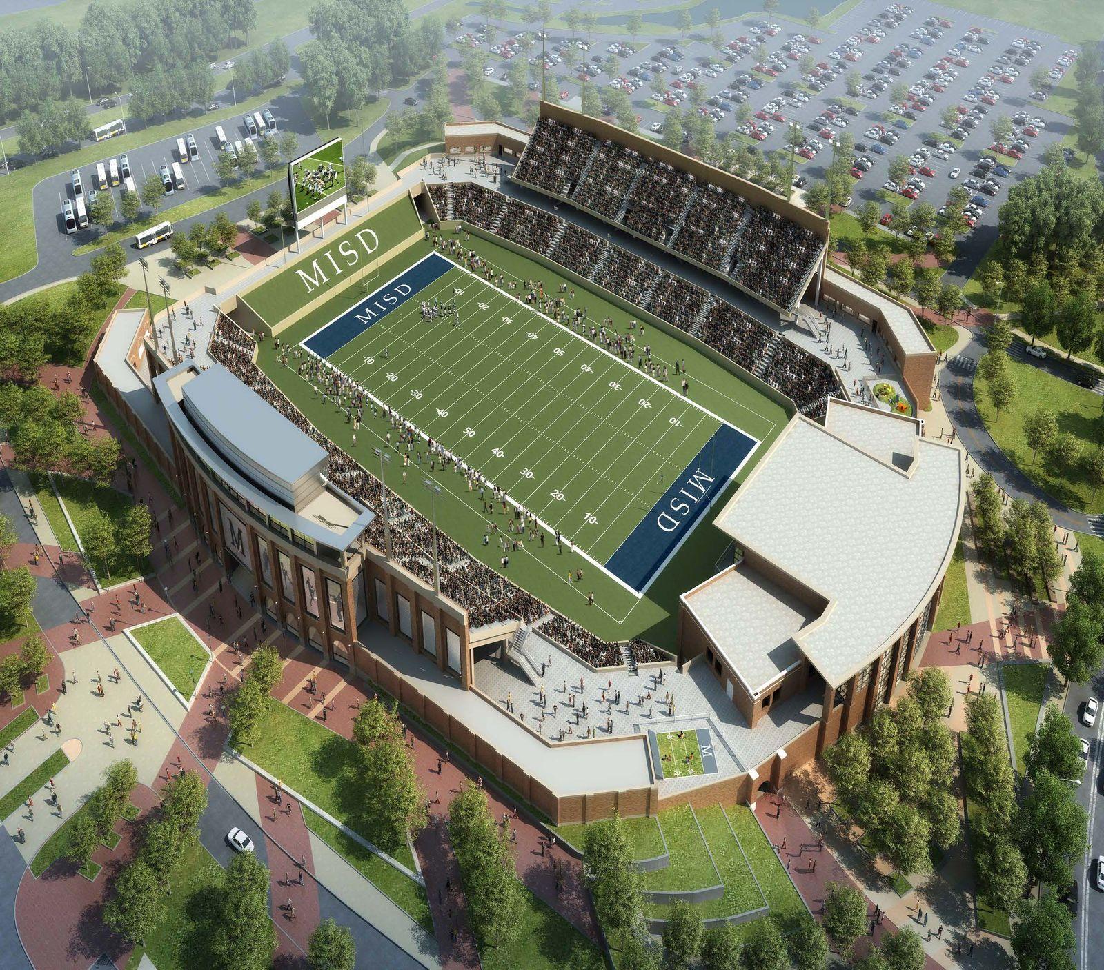 Warriors Proposed New Stadium Location: Design: McKinney ISD Stadium