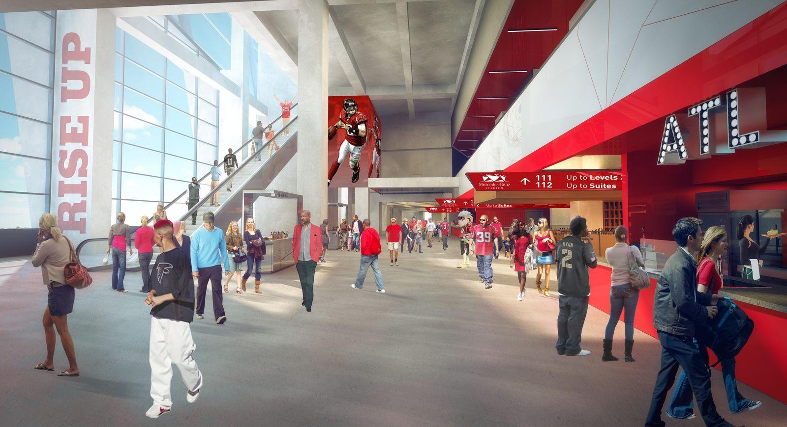 Design mercedes benz stadium for Mercedes benz stadium events