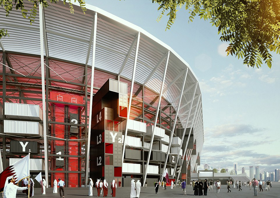 Design Ras Abu Aboud Stadium Stadiumdb Com