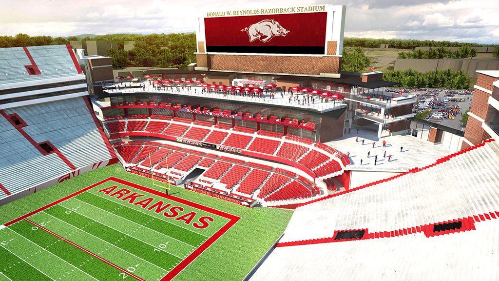 Design Razorback Stadium Stadiumdb Com