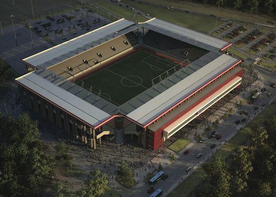 Design sparda bank hessen stadion for Offenbach design