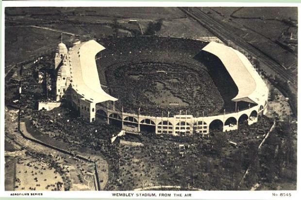 Historical British Empire Exhibition Stadium Wembley