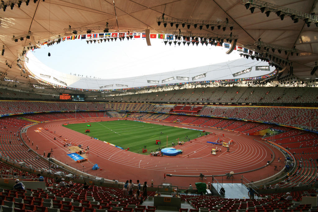 Beijing national stadium bird s nest for Nest bird stadium